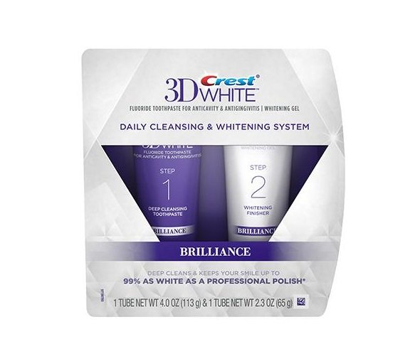 Crest 3D White Brilliance 2-stufiges Bleaching-System - Zahnpasta
