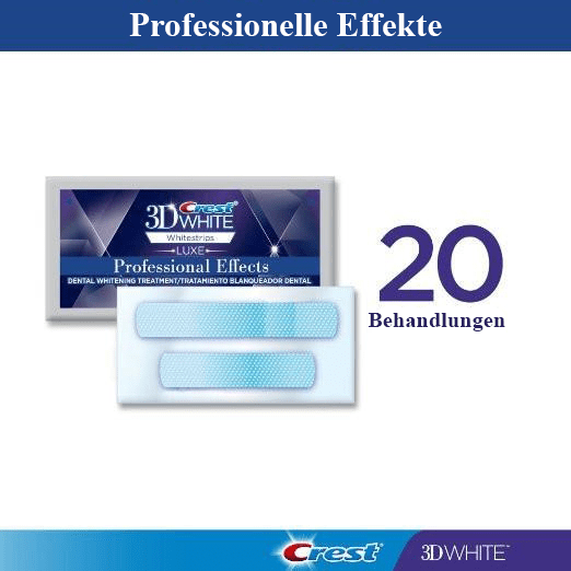 Professionelle Effekte Whitestrips - 20 Beutel