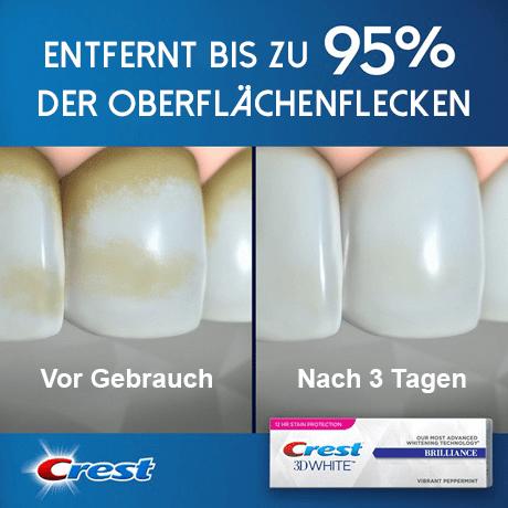 Crest Brilliance Zahnpasta - Zahnweiß-Zahnpasta